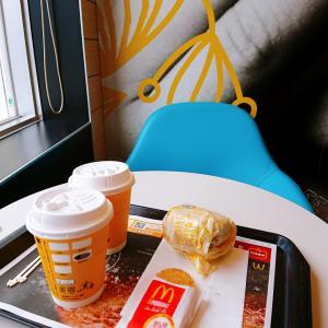 朝マックcafeにて夫婦デート♡