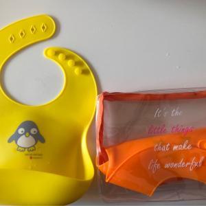 丸ごと洗えて衛生的!シリコンエプロンを使ってみた感想。