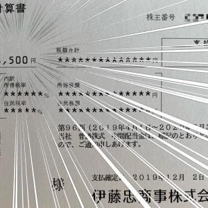 【NISAがおすすめ】累進配当を宣言をした伊藤忠商事から配当金が入金