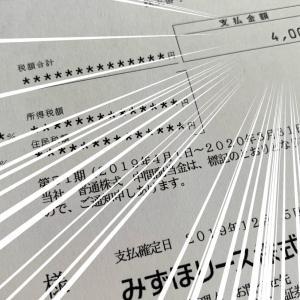 みずほリース☆総合利回り3.6%(配当2.4%)から配当金が入金されました