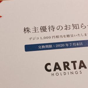 【Amazonギフト券がもらえる】CARTA(3688)の株主優待は