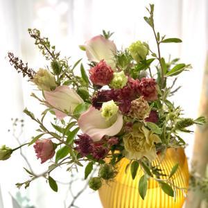 お花とベースとの組み合わせ