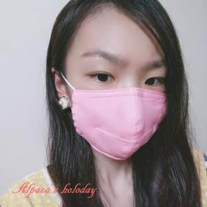 試作のワイヤー入り立体マスクの着画です!