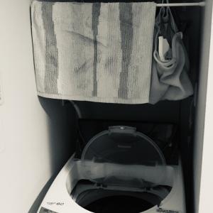 洗濯機上の収納やめた。ズボラには向いてませんでした…