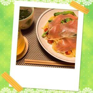 【3分クッキング】ミニトマトのスパゲティ生ハム&ルッコラのせのレシピ