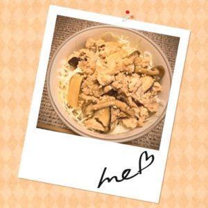 【丼弁当】豚ときのこの生姜焼き丼の簡単手抜きレシピは味付け二つで