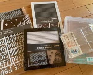キャンドゥ100円レターボードのアイディアと使い方と便利な収納法