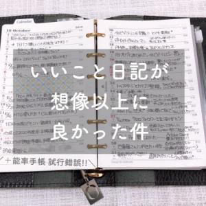 手帳観察|10月の手帳の中身
