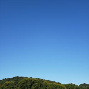 青い秋の空