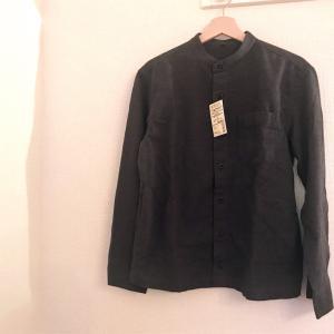 【無印良品】スタンドカラーシャツのフランネルがシルエットが良くておすすめ--新疆綿とは?【メンズコーデ】