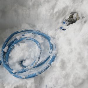 雪のお布団