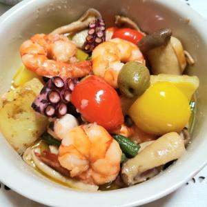 海老と蛸のアヒージョのレシピ