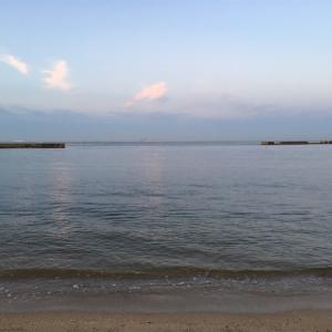 須磨海岸でキス釣り