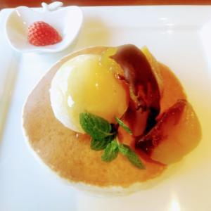 パンケーキが食べたい!富山産の天然ハチミツと魚津産のりんごのパンケーキ【富山:大場養蜂園カフェ38】