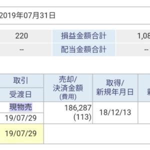 【7/25】利益確定