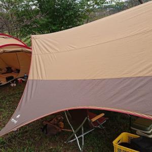 宮の前公園でキャンプ その3 雨撤収