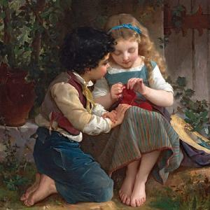 「少女絵画の画家」エミール・ムニエル(Émile Munier)の絵画