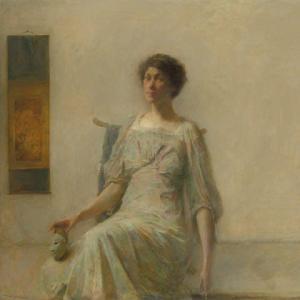 「色調主義の肖像画家」トーマス・デューイング(Thomas Dewing)の絵画