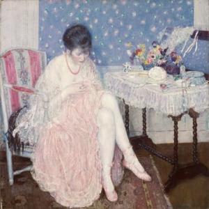 「優しい色調の人物画家」フレデリック・カール・フリージキー(Frederick Carl Frieseke)の絵画