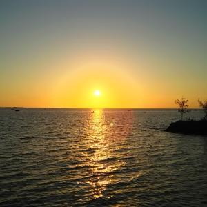 伊良部島のドミトリーのツアーで三角点とシュノーケル(沖縄の宮古諸島の伊良部島)