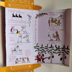 うさぎ1羽がカカオ10粒で交換されてたと書かれてたチョコレート【イギリスのお土産&食べ物】
