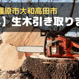 【奈良県橿原市大和高田市】生木(き)を無料で引き取ります!