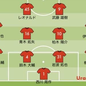 J1リーグ第7節 浦和レッズの予想スタメン【vs 横浜FC】