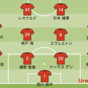 次節の浦和レッズの予想スタメン【vs 川崎フロンターレ J1リーグ2020第17節】