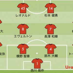 次節の浦和レッズの予想スタメン【J1リーグ第19節 vs 横浜FC】