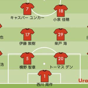 次節の浦和レッズの予想スタメン【vs 福岡 J1リーグ2021第20節】