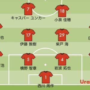 次節の浦和レッズの予想スタメン【vs 仙台 J1リーグ第21節】