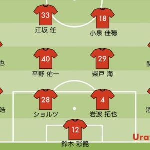 次節の浦和レッズの予想スタメン【vs C大阪 J1リーグ2021第29節】