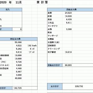 【家計簿】 2020年11月