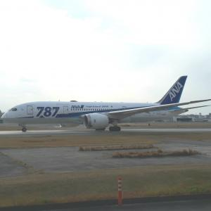 787ロゴ機運行最終日@福岡空港