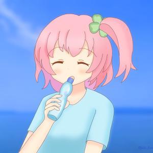 一柳梨璃さん誕生日2021(お絵かき)