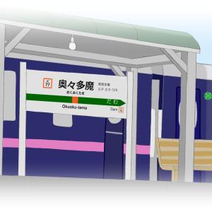 485系「華」奥々多魔駅停車中!(お絵かき)
