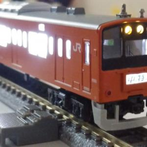 KATO 201系中央快速線T編成 前照灯・尾灯LED化と入線整備(Nゲージ)