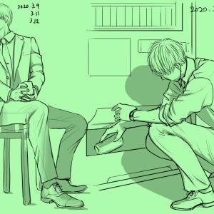 練習まとめ(302日)ルーミス優しい人物画&だらっとしたポーズ集&モルフォ模写