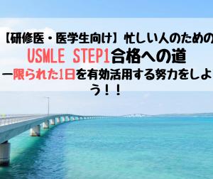 【研修医・医学生向け】忙しい人のためのUSMLE STEP1合格への道ー1日を有効活用する努力をしよう!