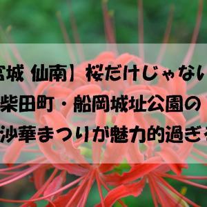 【宮城 仙南】桜だけじゃない!柴田町・船岡城址公園の曼殊沙華まつりが魅力的過ぎる♪