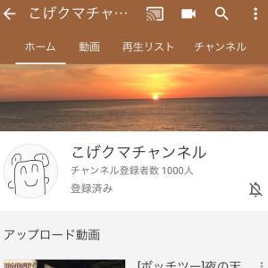 祝!チャンネル登録者1000人!!