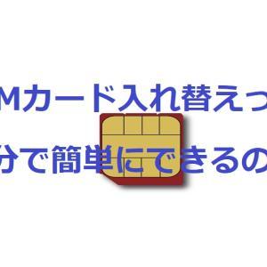 初めて自分でSIMカードの入れ替えをやってみた!その方法とその注意点とは!?
