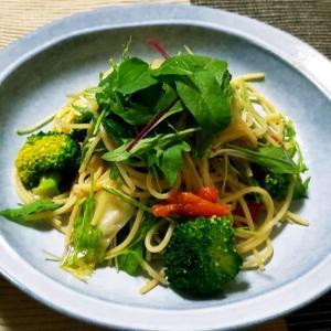 おひとりさまごま風味が美味しい!たっぷり野菜とごまのペペロンチーノ