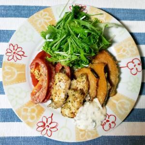 おひとりさまキリンレモンの衣で鶏ささみと野菜のフリッター