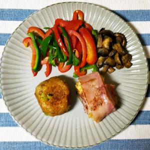 冷蔵庫の中の整理 余り野菜と作り置きチキンライスの焼きおにぎり
