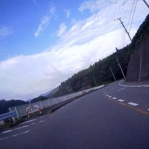 台風前に山中湖