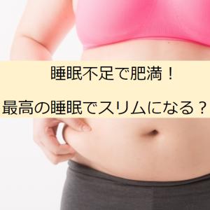 肥満は睡眠不足が原因?!身体も脳もスッキリさせる方法