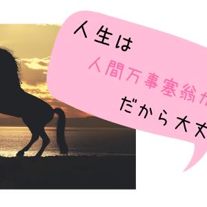 人生は人間万事塞翁が馬だから大丈夫!