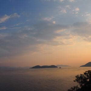Great Seto Bridges drive: View of the sea and islands of Setouchi