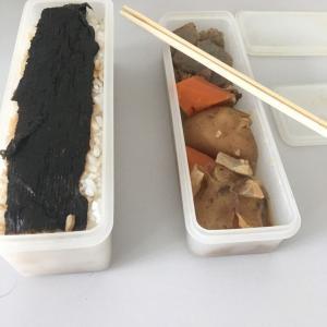 【自炊】肉じゃがと麦飯でお弁当。夜は手抜きしました(^^;